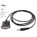 Câble DB9-Jack 2,5mm RS232