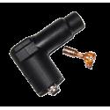 Connecteur HT 4mm Coudé 90°