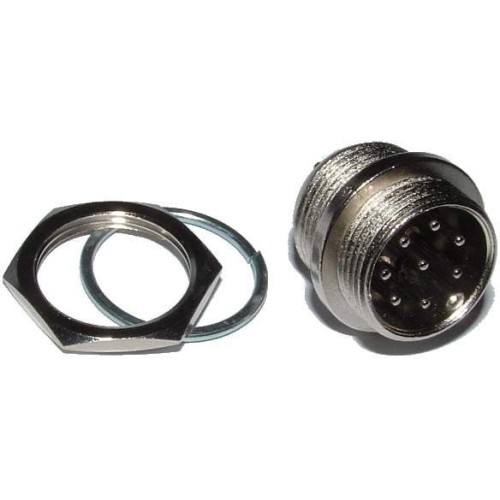 Connecteur circulaire mâle 8 broches