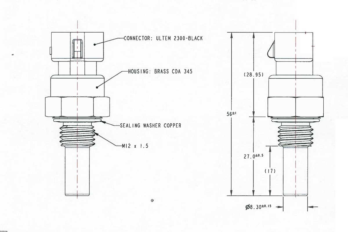 Capteur Température Moteur ou Huile M12x150