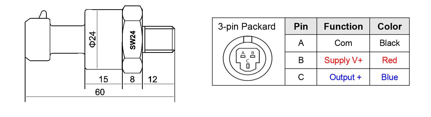 Connexion capteur pression Fenixecu